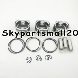 New 3 Sets Std Piston And Ring For Yanmar 3tn84e Diesel Engine One Engine