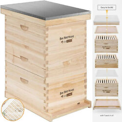 Langstroth Bee Hive 30 Frame 2 Deep 1 Medium Boxes W/ Metal Roof Queen Excluder