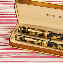 Vintage Wahl Eversharp Gold Seal Emblem Senior Equipoise Fountain Pen Pencil Set