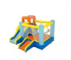 10and039 Inflatable Bounce House Park With Basketball And Slide
