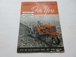 Allis Chalmers Wc Farm Tractor Brochure From The 1930's 40 Pages