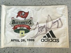 Rare 1999 Tampa Bay Buccaneers Golf Classic Pin Flag Signed By Tony Dungy