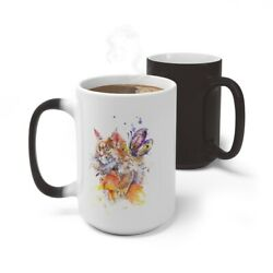 Fluffy Maine Coon Cat On Color Changing Mug