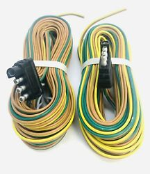 Lot Of 2 - 25and039 4-way Triler Wiring Harness 53108a1 - Whish Bone Type 30 Groun