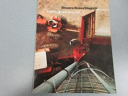 New Holland Blowers, Boxes And Wagons Sales Brochure 12 Pages