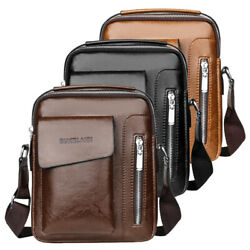 Leather Shoulder Bag for Men Gents Hiking Crossbody Bag Business Handbag TOTE $25.90