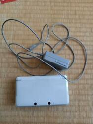Nintendo 3ds Handheld System Pure White Video Game Console From Japan Used