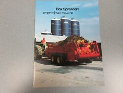 New Holland Box Spreaders Sales Brochure 16 Pages Lots Of Models