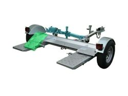 Galvanized Stow And Go Folding Car Tow Dolly With Surge Brake Rv Trailer 4900 Lb