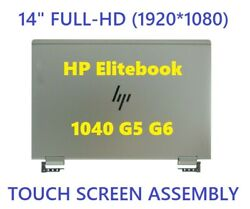 Hp X360 Elitebook 1040g5 Led Lcd Display Touch Screen Full Hinge Up Fhd Glossy