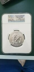2013 Atb 5 Oz Silver Coin Mount Rushmore Sp 69 Ngc America The Beautiful