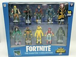 Fortnite The Chapter 1 Collection Battle Royale - 10 Pack Figure Gift Set New