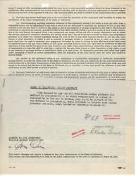 Charles Farrell Signed Autographed Contract Tv Movie Actor Jsa Ll48139