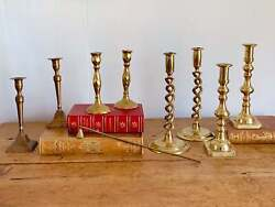 New Styles Added Assorted Pairs Of Vintage Brass And Taper Candlestick Holders