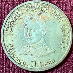 Usa Tokens Dennisand039 Place For Games Chicago Il No Cash Value Brass Token