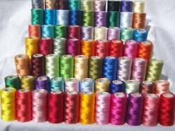 100 Pc Lot Indian 800 Yards Spools Sewing Thread Silk Spools For Sewing Machines