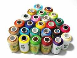 Wholesale 100 Pc Lot Indian Silk Sewing Spool Thread Stitched Multicolor Thread