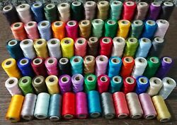 Wholesale 200 Pc Lot Indian Silk Sewing Spool Thread Stitched Multicolor Thread