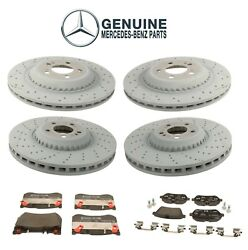 Genuine Front And Rear Brake Disc Rotors And Pads Kit For Mercedes W222 C217