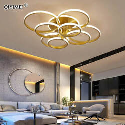 Modern Led Chandelier With Remote Control Acrylic Lights For Living Bedroom