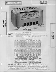 1946 Bell Sound 3725 Amplifier Amp Tube Service Manual Photofact Schematic Fix