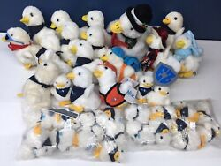 Used Lot 38 Talking Aflac Duck Plush Toys 10 3.5 5 Xmas Holiday Keychains