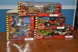 Jurassic Park Theme Park T-rex Rescue Outpost Rovers Dinos Only Set On Ebay
