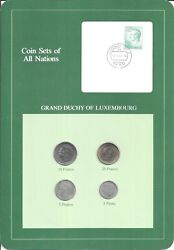 Coins Of All Nations - Luxembourg  - 4 Coin Set - 1980-1983 Coan 72
