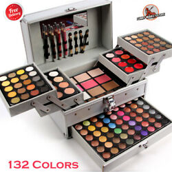 132 Colors Pro Makeup Eyeshadow Palette Lip Gloss Powder Blush Cosmetic Set Kit $110.63