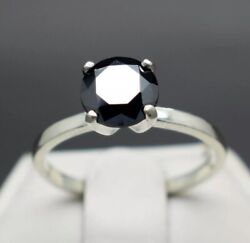 Real Natural Black Diamond Ring 1.88cts 8.21x8.20x4.61mm. Aaa/africaandvalue1140