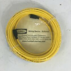 New 50 Ft Yellow Hubbell Wiring Device Marine Electrical Cable Set Tv99
