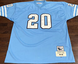 Mitchell And Neas Throwback Detroit Lions Barry Sanders 20 Jersey Size 52