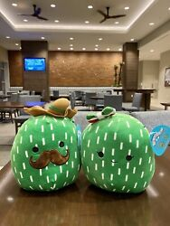 Squishmallows 7andrdquo Mexican Cactus Boy And Girl Plush Set Nwt