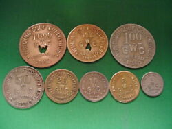 Wv Coal Scrip 8 Pc Set-louisville Stores-goodwill-wv-mercer County