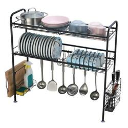 Over The Sink Dish Drying Rack Kitchen Countertop Organization Storage Dishes