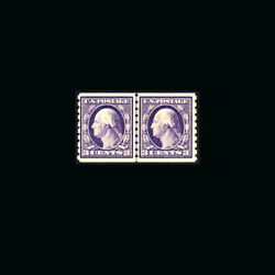Us Stamp Regular Issues Mint Og And Nh, S394 Vf Line Pair, Stamp On The Left Is N