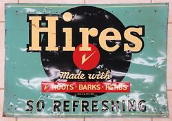 1950's Hires Root Beer Large Tin Sign, 39x27
