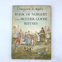 Marguerite De Angeli Book Of Nursery Mother Goose Rhymes Fairy Tale 1st Edition