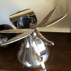 Very Heavy Emilia Los Castillo Water Pitcher W/flying Dragonfly Neiman Marcus