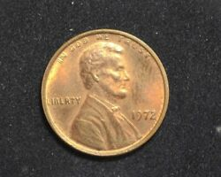 Hsandc 1972/72 Lincoln Memorial Penny/cent Bu Choice Full Red - Us Coin