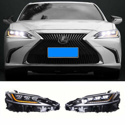 For Lexus Es Led Headlights Projector Led Drl 2018-2021 Replace Oem Halogen