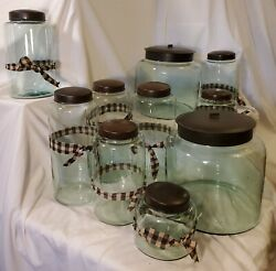 Reproduction Vintage Candy Store Jars, Ten In All, Booth Buyout, Excellent