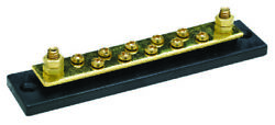 Marine Boat 10 Gang Terminal Block With Brass Stud Terminals And Hex Nuts