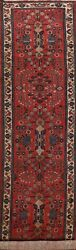 Antique Vegetable Dye Lilihan Hand-knotted Runner Rug Palace Size Oriental 4x18