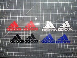 X16 Adidas Iron On Logos 2.5 Inches Wide Free Shipping Htv Easy Apply