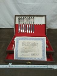 Vintage Wm Rogers And Son 44 Piece Silverplate Flatware Set And Box