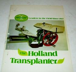 1970's Holland Transplanter 12 Pg. Sales Brochure And Attachments