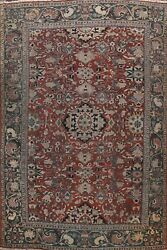 Pre-1900 Sarouk Vegetable Dye Large Area Rug Hand-knotted Classic Oriental 10x12