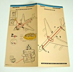 Braniff Airlines Safety Card Dc-8-62 Over Water Original Vintage 1981