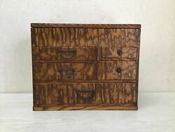 Y2237 Tansu Chest Drawers Sewing Box Accessory Case Japanese Antique Vintage